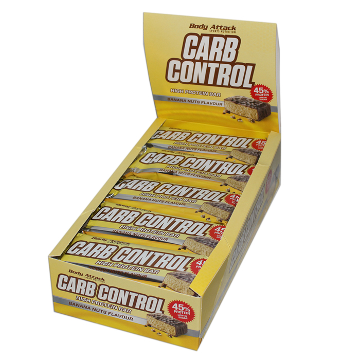 Body Attack Carb Control Bar 100g Riegel 15 Riegel Karton