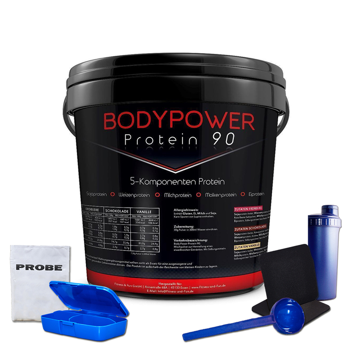 Body Power Protein 90 5kg Eimer + Bonus