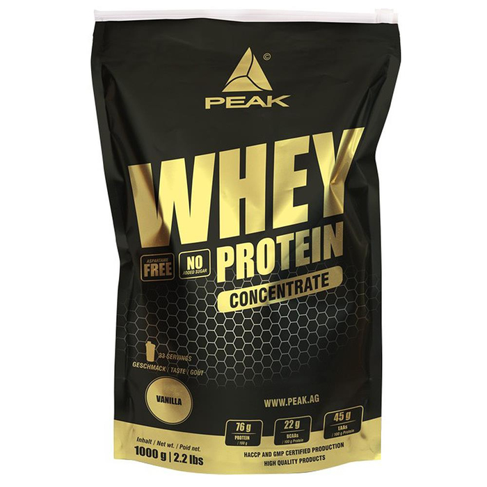 Peak Whey Protein Concentrate 1000g Beutel