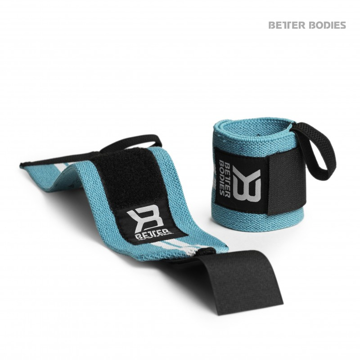 Better Bodies Womens Wrist Wraps Pink & Aqua New Style