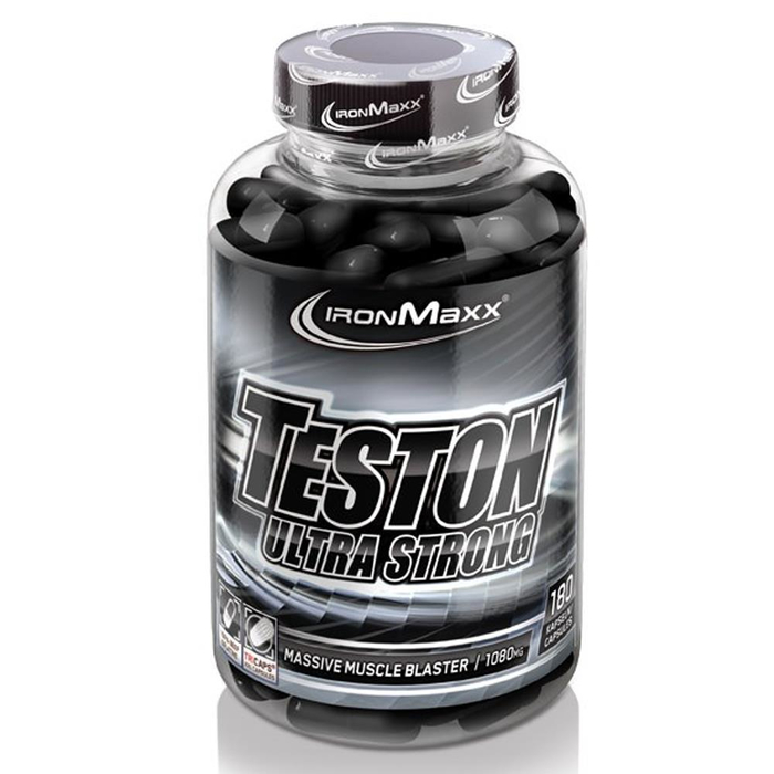 (10,15 Eur/ 100 G) Ironmaxx Teston Ultra Strong 180 Capsules Can Testosterone