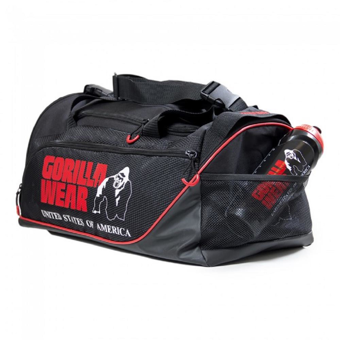 Gorilla Wear USA Jerome Gym Bag Sporttasche Black/Red