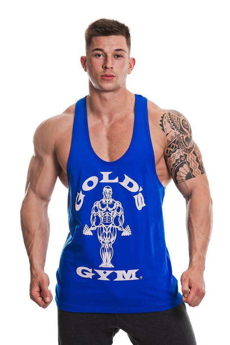 Golds Gym Classic Stringer Tank Top Royal Blue/Blue S-XXL Bodybuilding Fitness