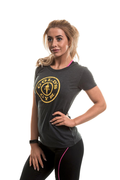 Golds Gym Stronger than the Boys Ladies T-Shirt Grey Fitness Size XS-L