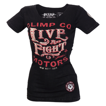 Olimp Live & Fight Lady´s T ROSE SKULL Black