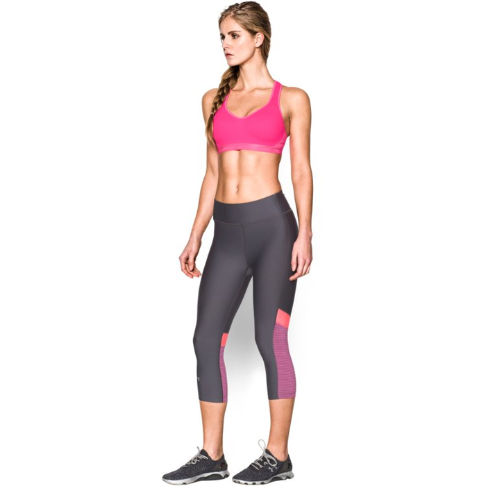 Under Armour HeatGear High Support Sports Bra - pink