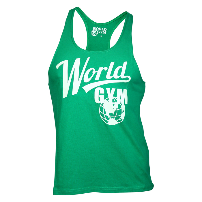 World Gym Modern Stringer Tank Top green