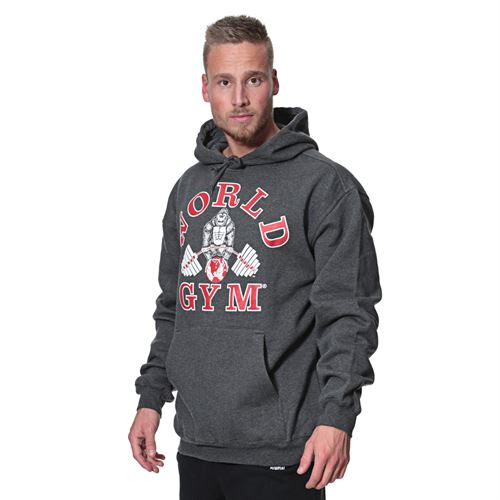 World Gym Hoodie anthrazit