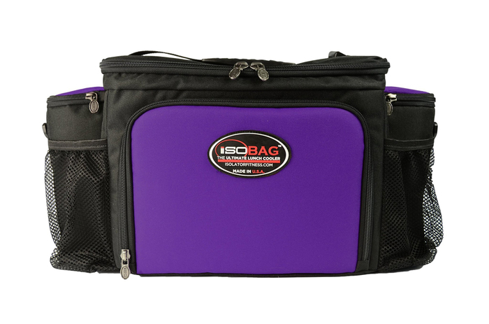 Isolator Fitness Case 6 Meal Isobag - black/purple