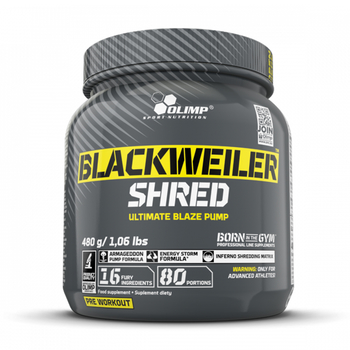 Olimp Blackweiler Shred 480g Pulver Dose Exotic Orange