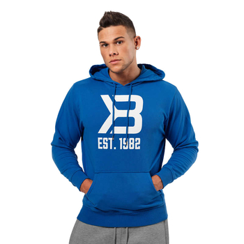 Better Bodies Herren Gym Hoodie Bright Blue (Restposten)