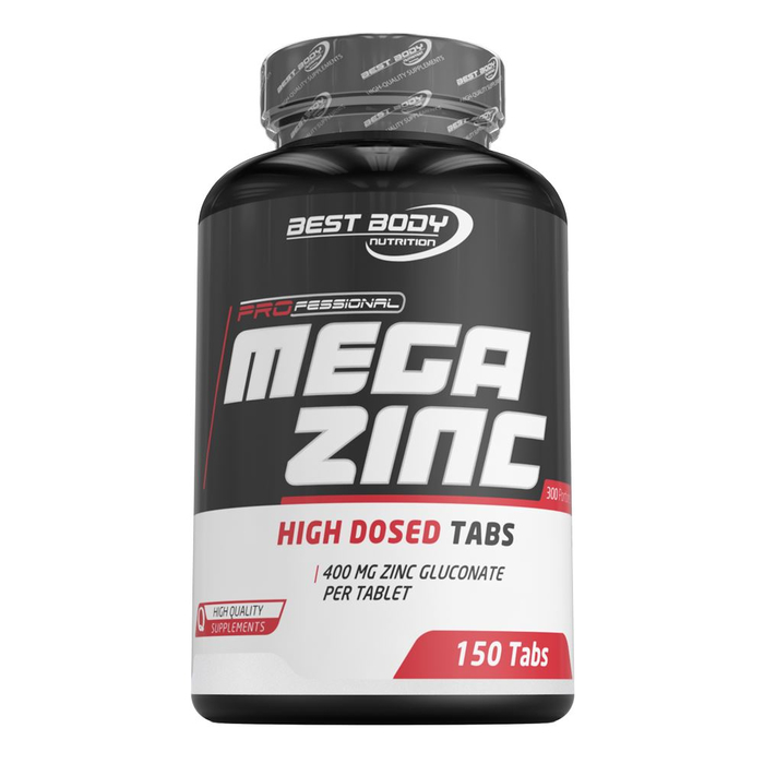 Best Body Nutrition Mega Zinc Gluconate 150 x 50mg Zink Tabletten Dose