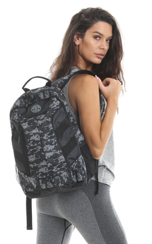 Golds Gym Camo Print Backpack Rucksack
