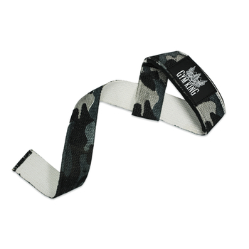 Gym King Lifting Wrist Straps Zughilfen Lang Dark Camo