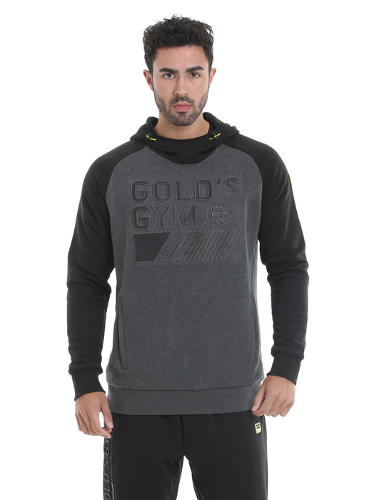 Golds Gym Mens Pullover Embossed Hoodie