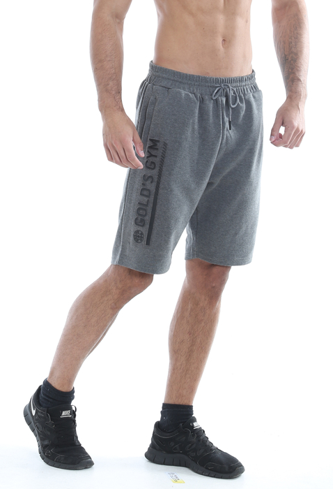 Golds Gym Embossed Short Charcoal Marl