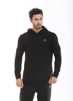 Golds Gym Long Sleeve Hooded Sweathshirt Black