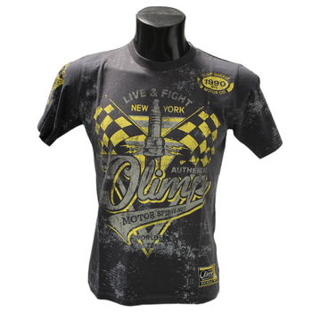 Olimp Live & Fight Motor Spirit T Shirt Charcoal