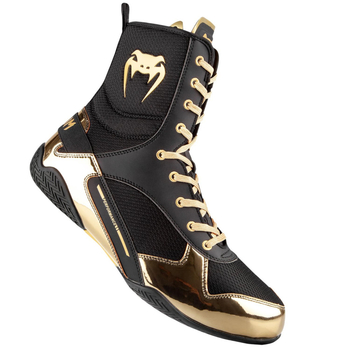 Venum Elite Boxing Shoes Boxstiefel Schwarz-Gold