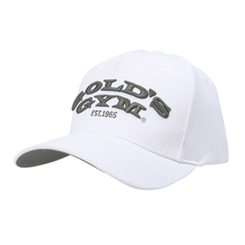 Golds Gym Text Curved Peak Cap White Onesize