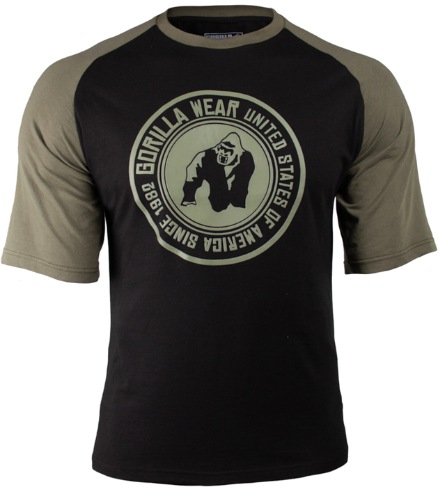 Gorilla Wear Texas T-Shirt - Black / Army Green