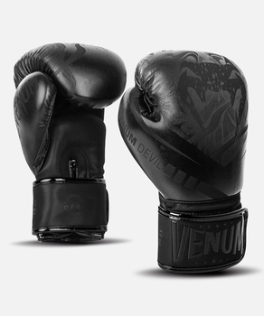 Venum Devil Boxing Gloves Black-Black