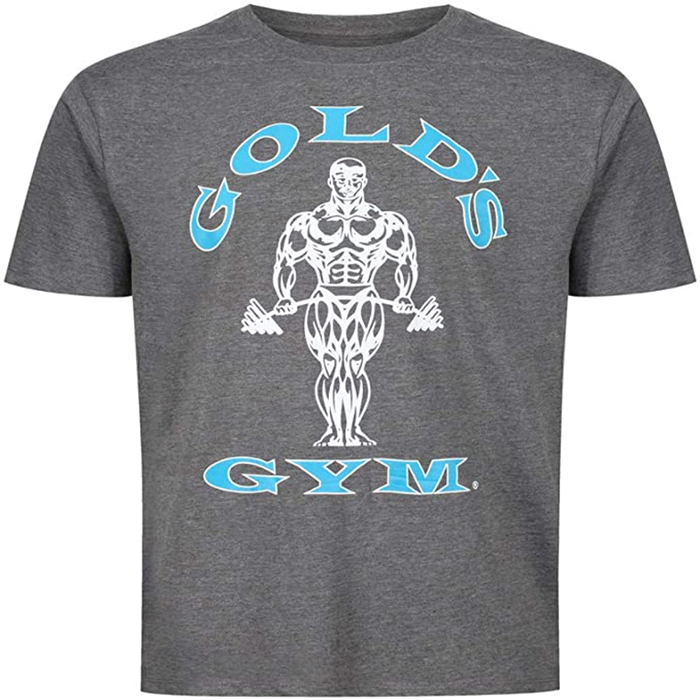 Golds Gym Muscle Joe T-Shirt Grau/Türkis