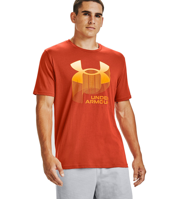 Under Armour Big Logo Wordmark T-Shirt Orange