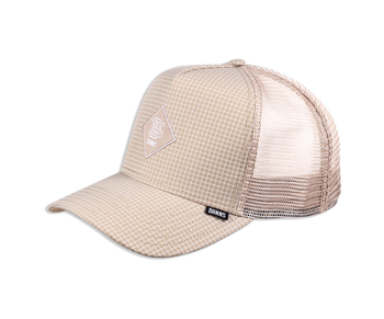 Djinns Trucker Cap HFT Needle Check 2020 Khaki