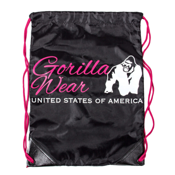 Gorilla Wear Drawstring Bag Turnbeutel black/pink