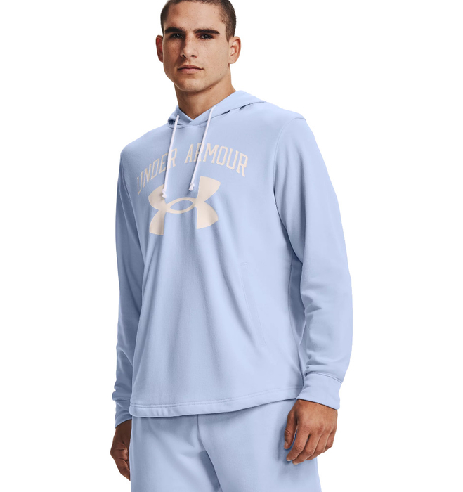Under Armour Rival Terry Big Logo Hoodie Light Blue
